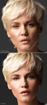 Digital retouching services with Adobe Photoshop.